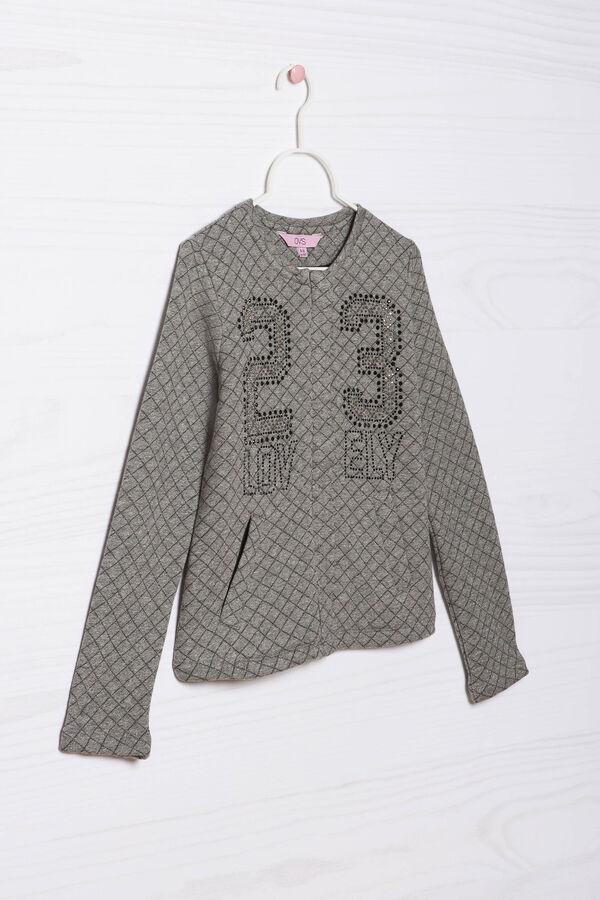 Viscose blend diamanté sweatshirt | OVS