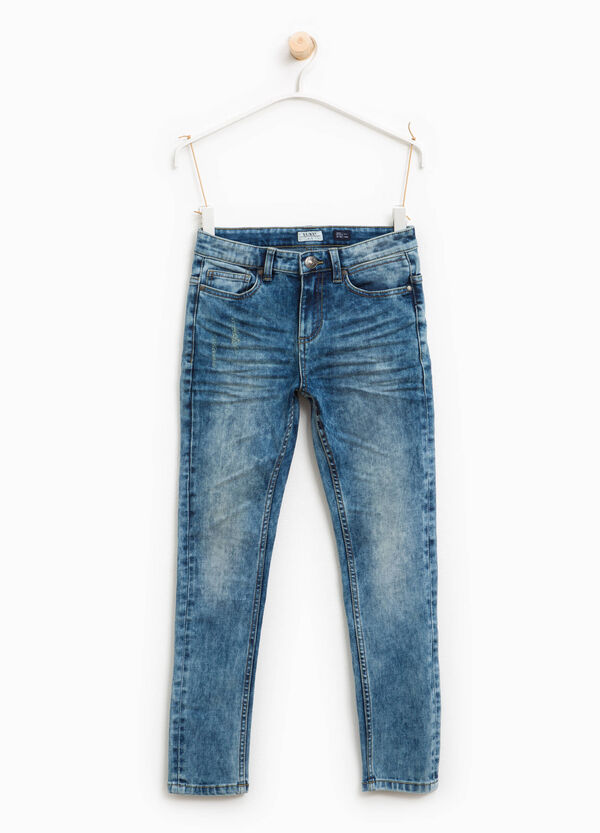 Jeans skinny fit effetto maltinto | OVS