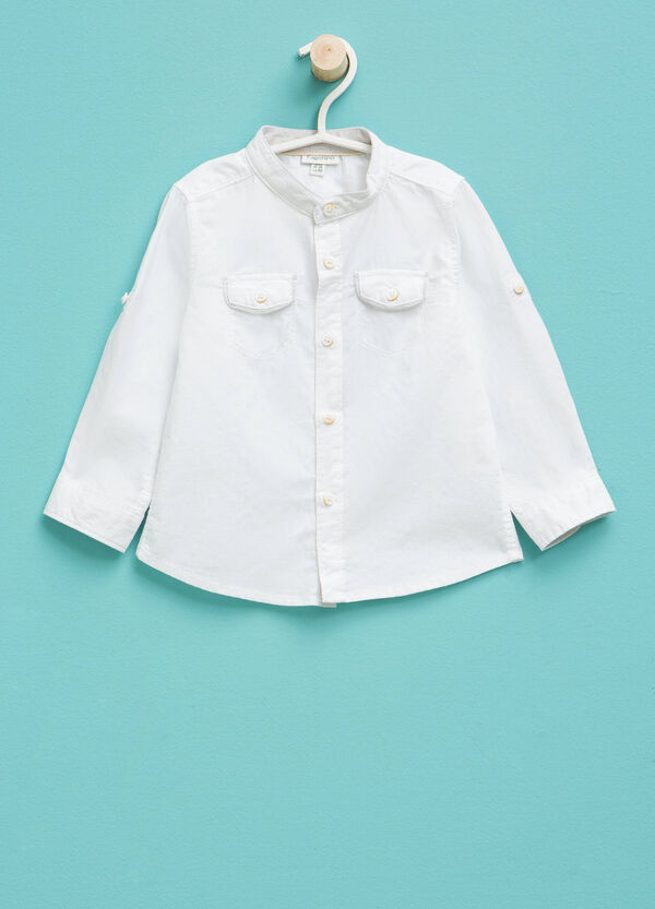 100% cotton shirt with small pockets | OVS