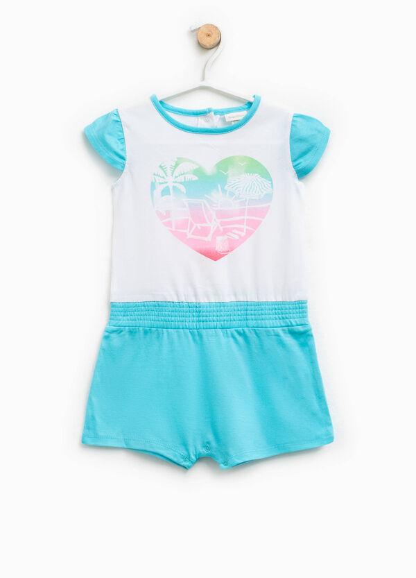Tutina pigiama stampata in cotone | OVS