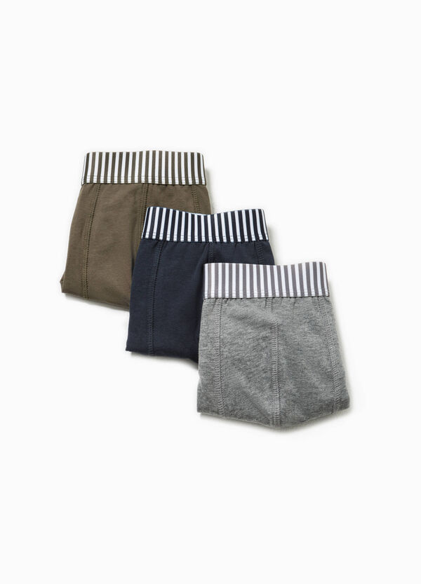 Three-pack stretch boxer shorts with striped waist band | OVS