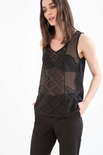 Semi-sheer, solid colour top
