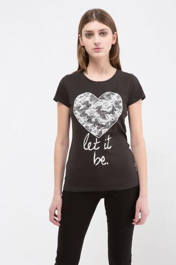 T-shirt misto cotone con stampa
