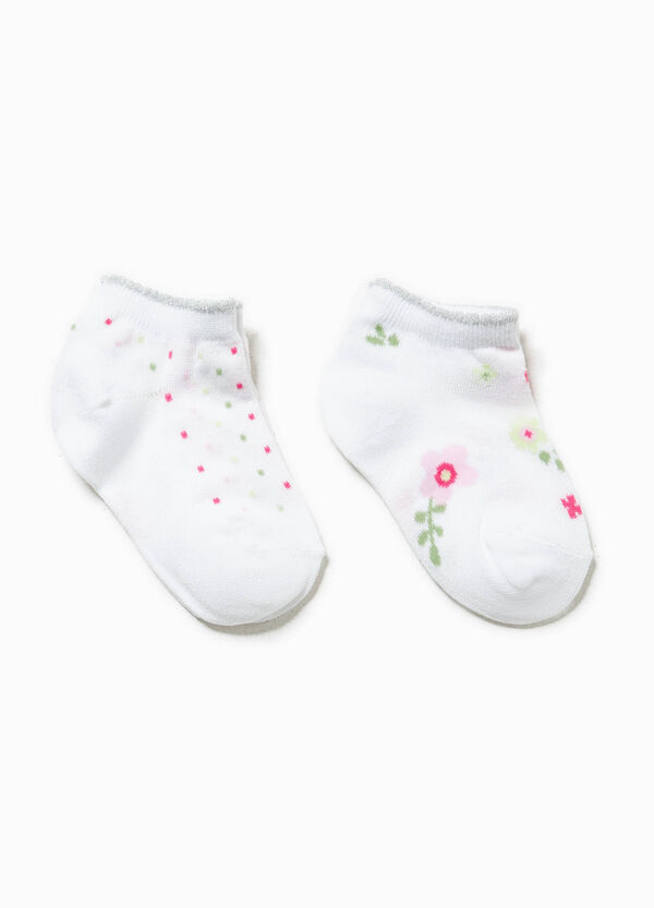 Two-pair pack embroidery and polka dot socks | OVS