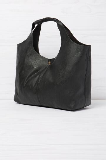 Solid colour shoulder bag