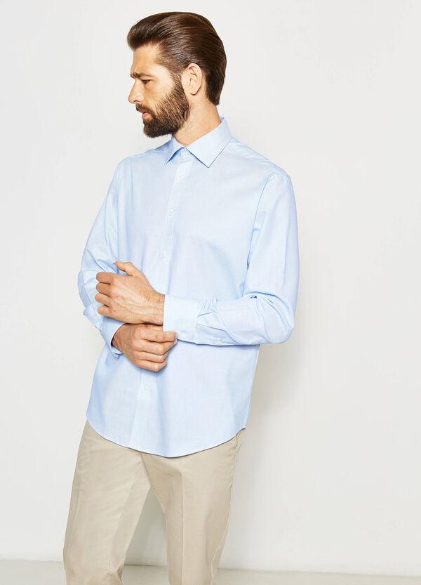 Regular-fit micro-check formal shirt | OVS