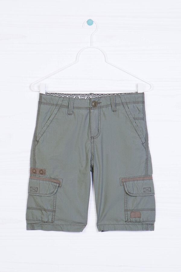 Cotton Bermuda shorts with pockets   OVS
