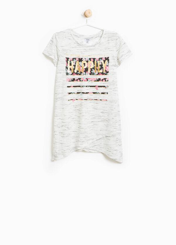 T-shirt in viscosa mélange stampata | OVS