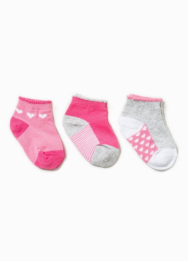 Set tre paia di calze righe e cuori | OVS