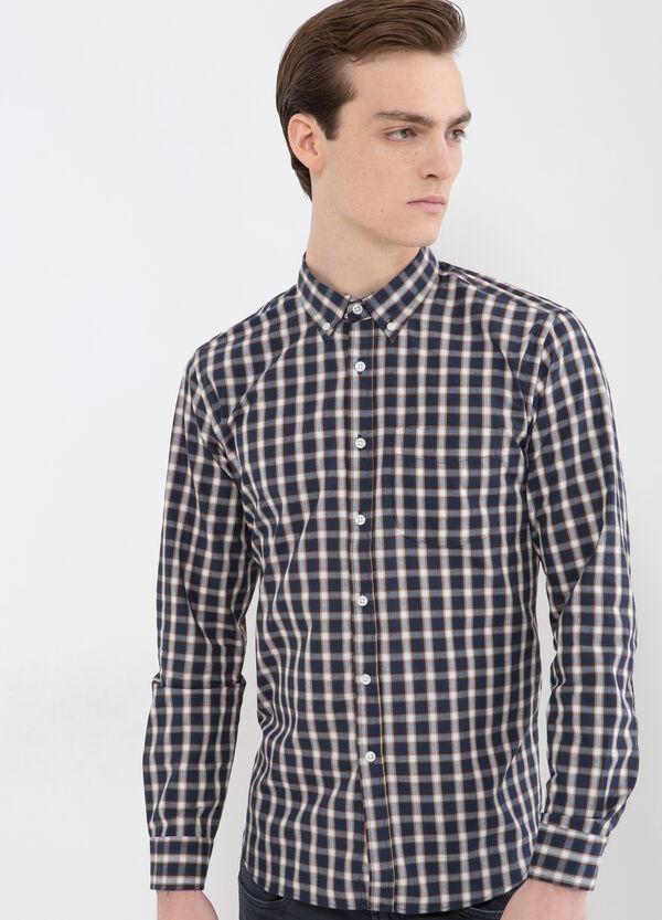 Camicia misto cotone a quadri   OVS