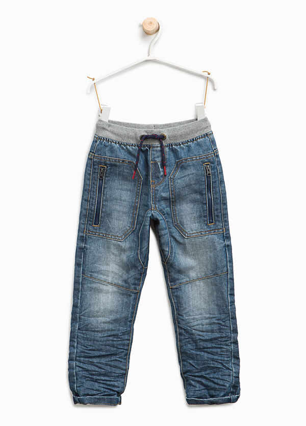 Jeans jogger fit cuciture a contrasto | OVS