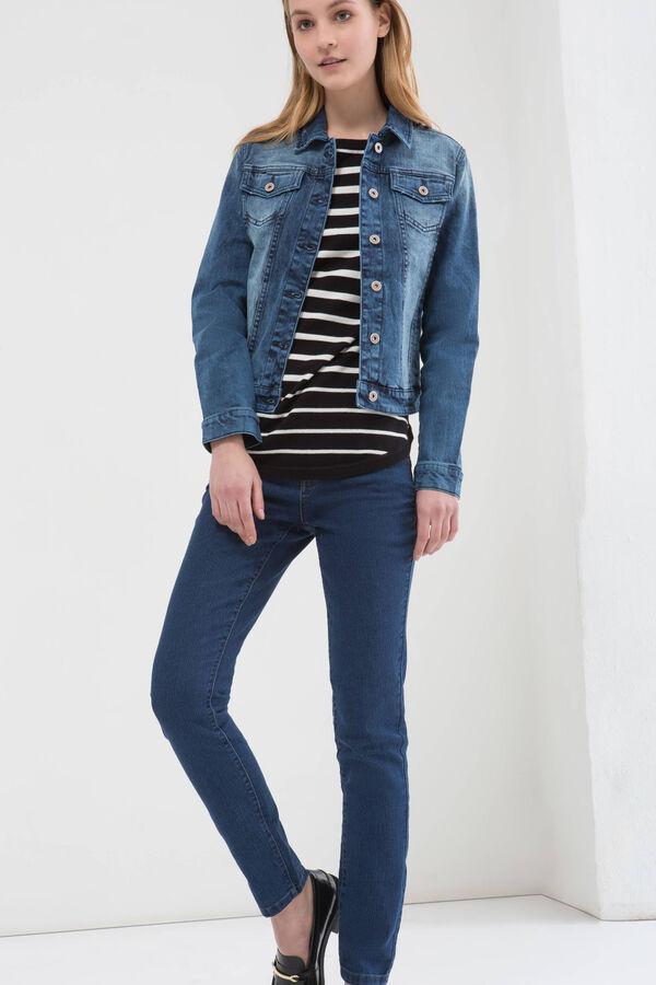 Giacca di jeans effetto delavé | OVS