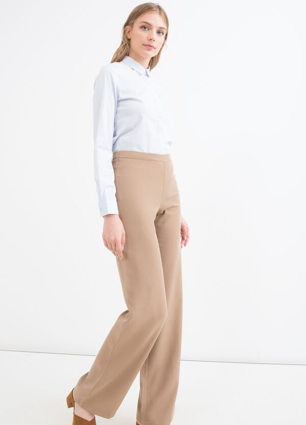 Pantaloni pura viscosa tinta unita | OVS