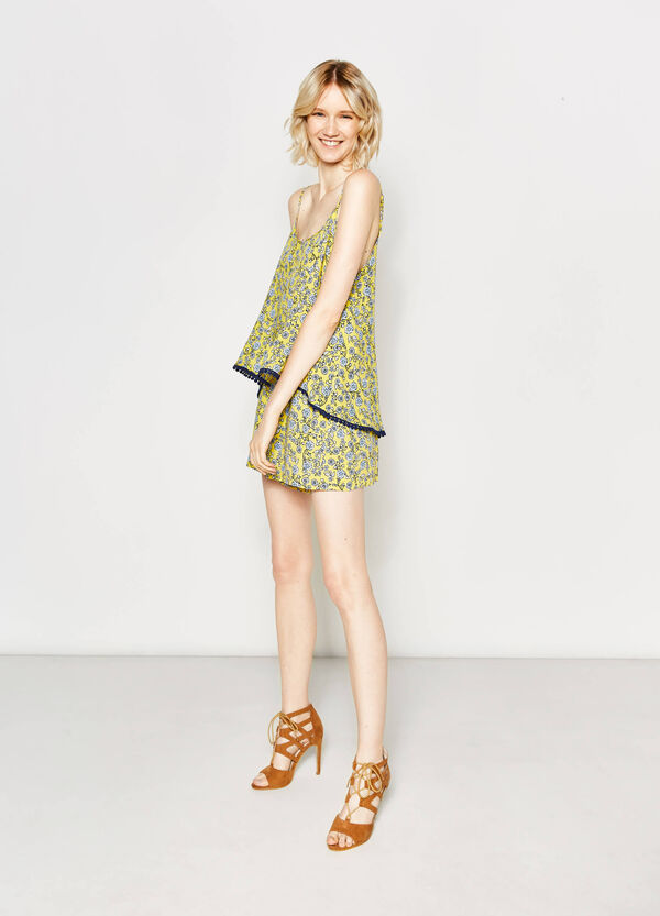 Shorts with high waist and all-over print | OVS