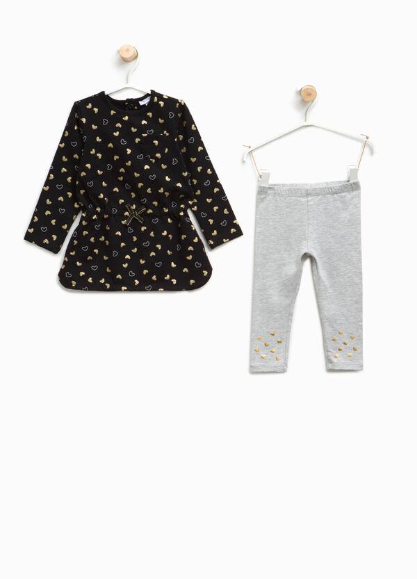Completo vestitino e leggings a cuori | OVS