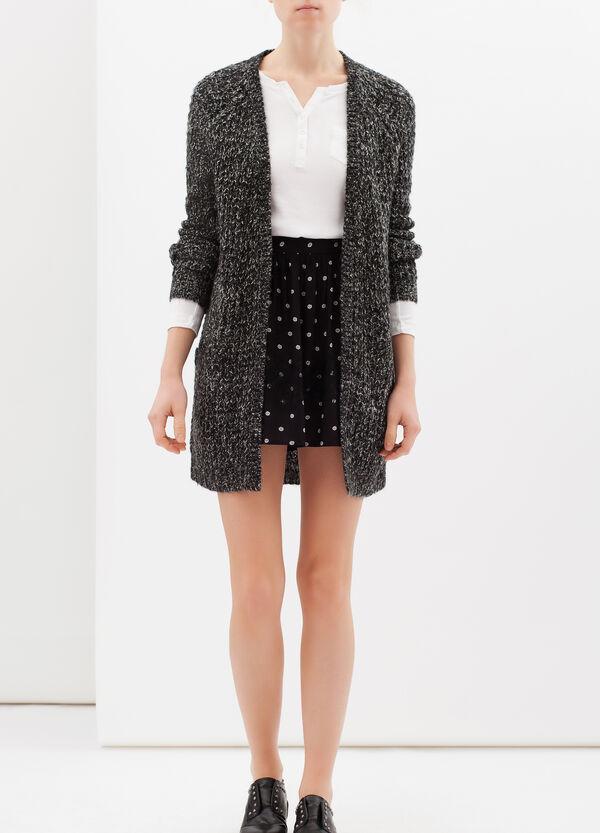 High waist viscose blend skirt | OVS