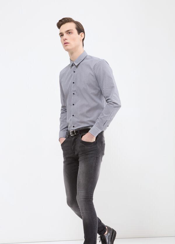 Camicia misto cotone quadretti   OVS
