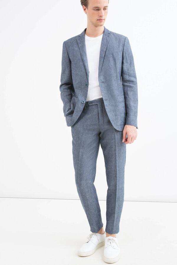 Slim-fit jacket in 100% linen | OVS