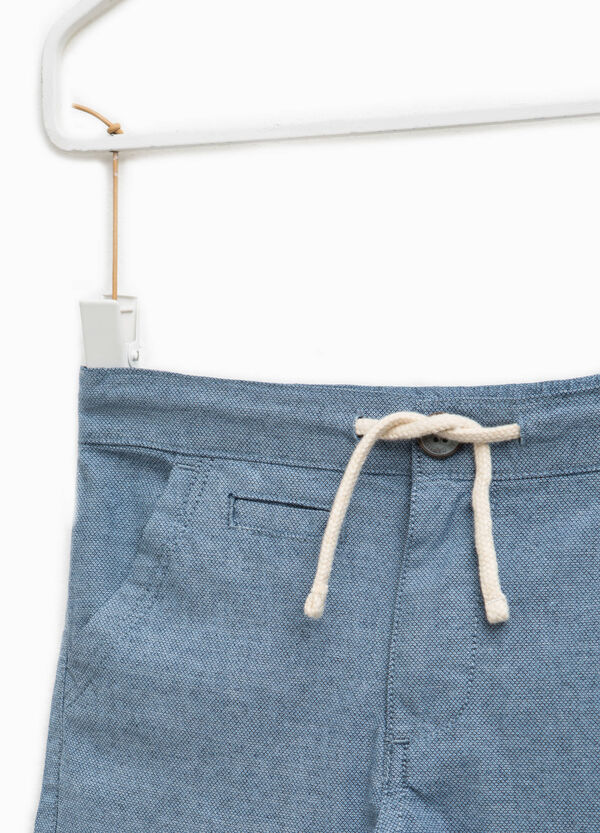 Chino trousers with drawstring and pocket   OVS