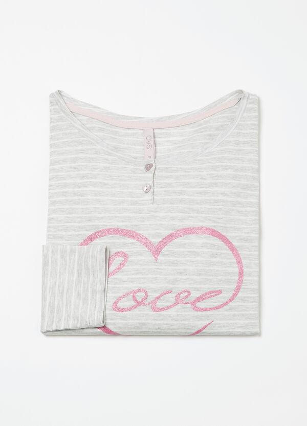 Curvy stretch cotton pyjama top | OVS