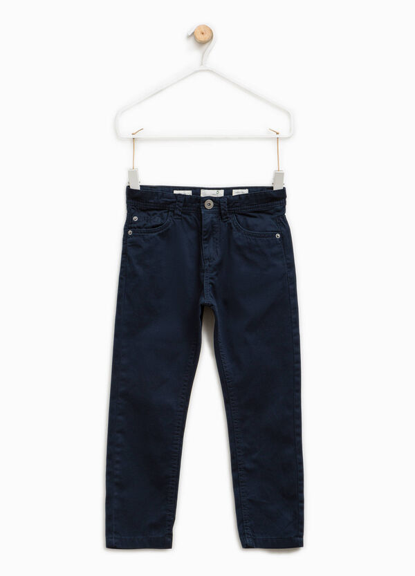 100% cotton chino trousers   OVS