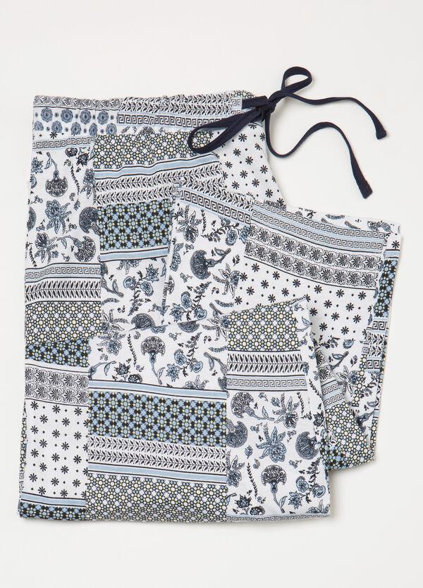 Curvy pyjama trousers with drawstring | OVS