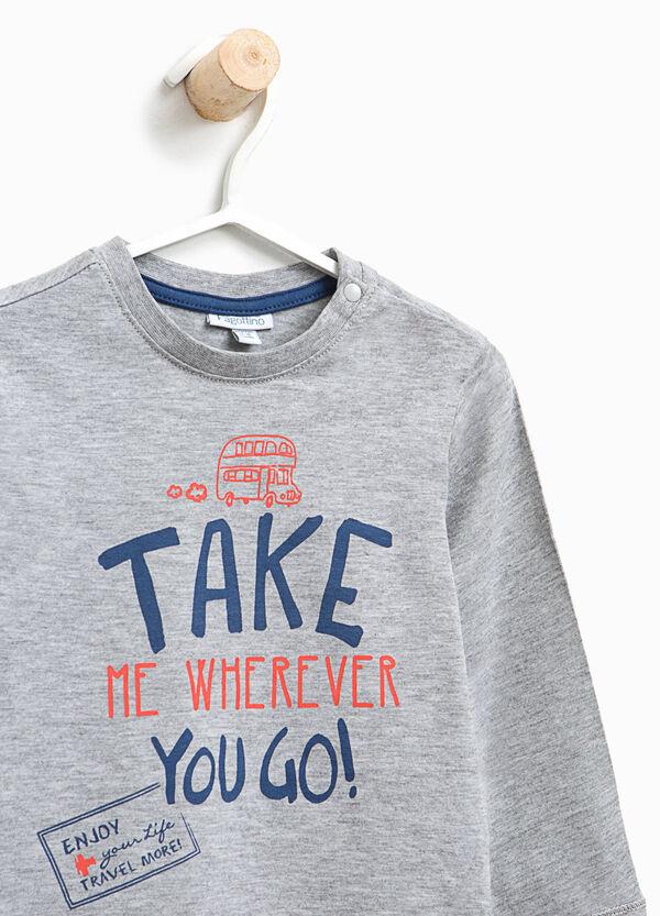 T-shirt in cotone e viscosa lettering | OVS