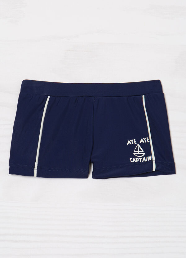 Stretch boxer shorts with print and inserts   OVS