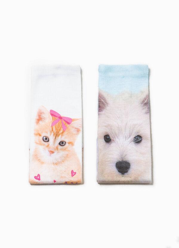 Two-pack short patterned socks | OVS