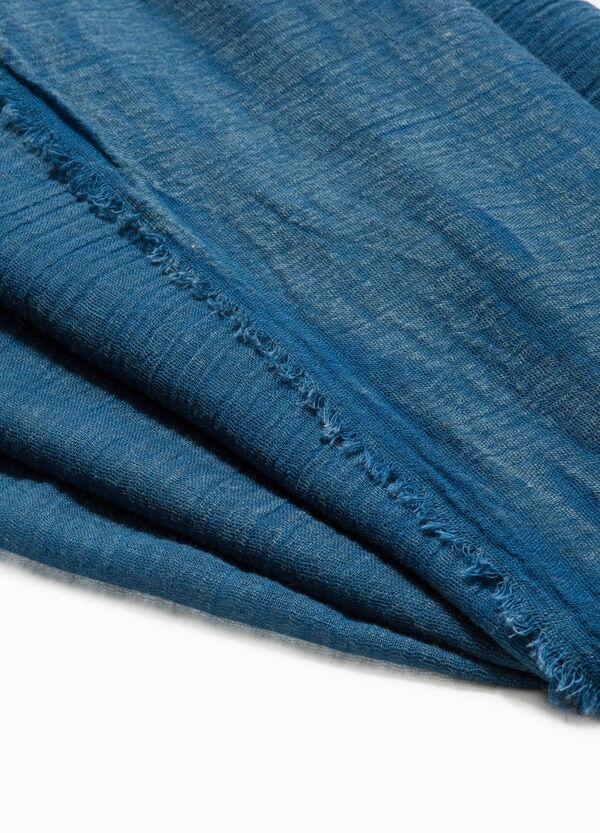 Sciarpa in puro cotone sfrangiata | OVS