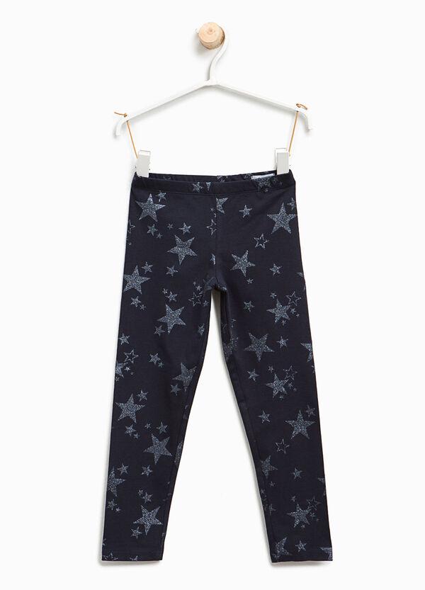 Leggings stampa a stelle glitterate | OVS