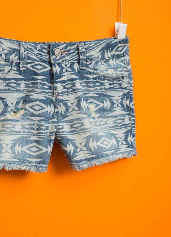Shorts di jeans fantasia etnica | OVS