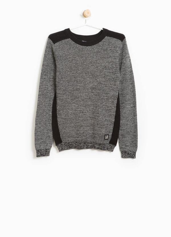 Pullover in puro cotone con costina | OVS