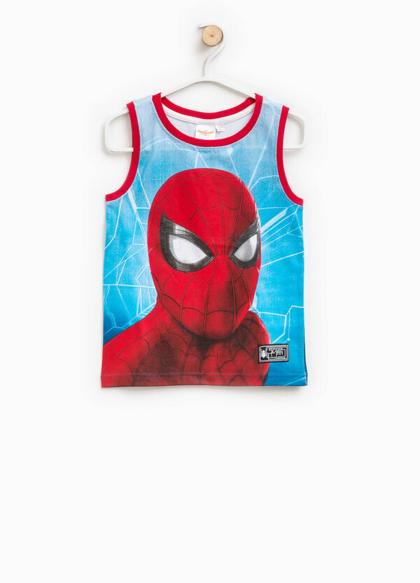 Cotton vest with Spiderman pattern | OVS