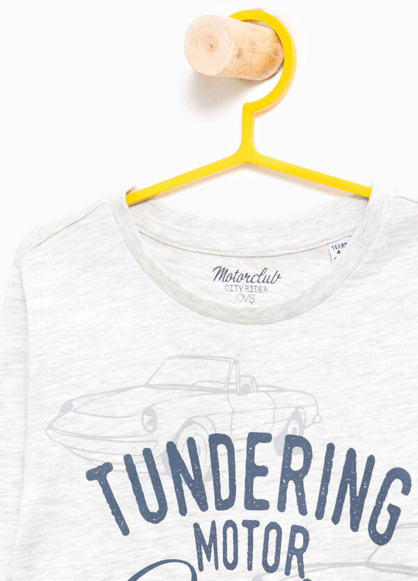 T-shirt in puro cotone stampa lettering | OVS