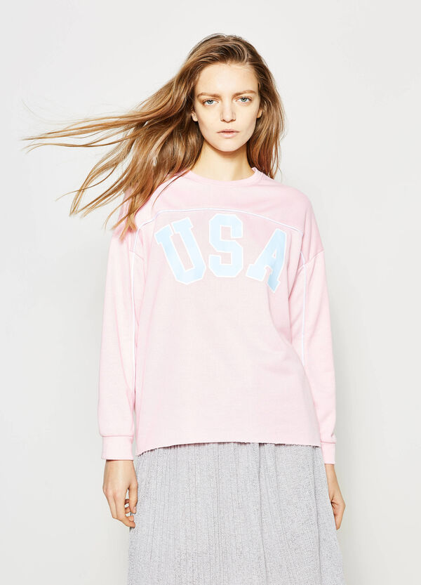 Sweatshirt with contrasting colour edging | OVS