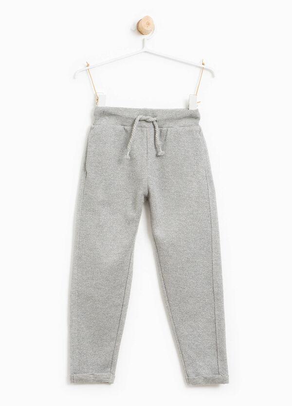 Pantaloni in cotone stretch con coulisse | OVS