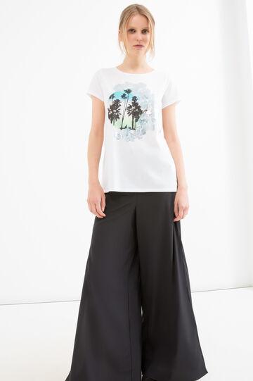 Cotton blend printed T-shirt