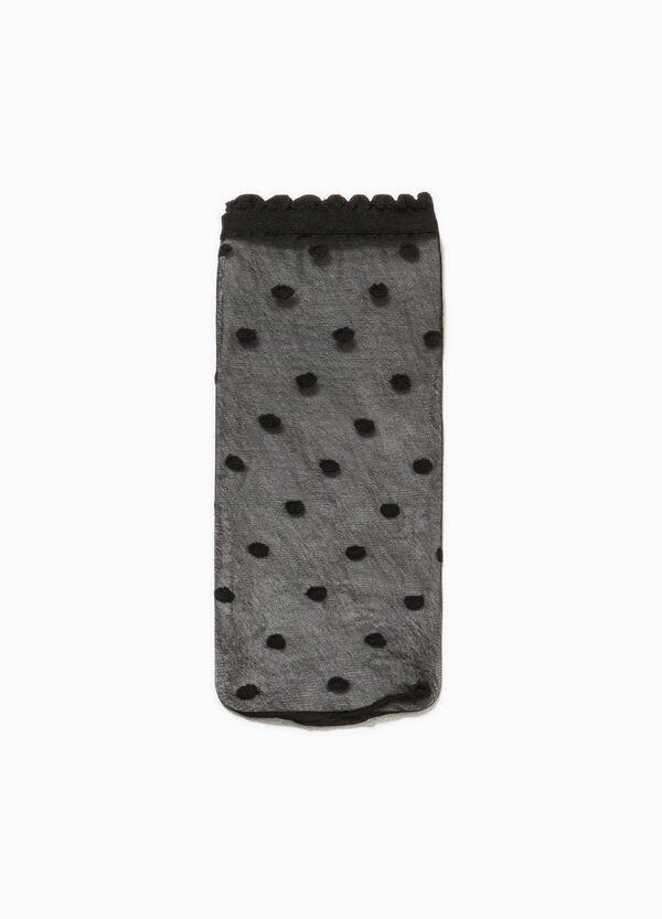 Set of two pop socks with polka dot weave | OVS