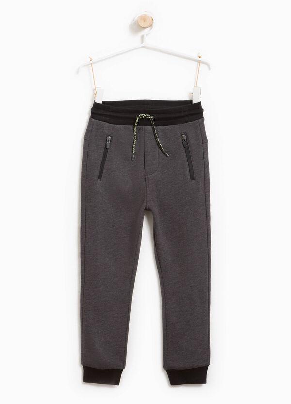 Pantaloni tuta cotone stampa lettering | OVS