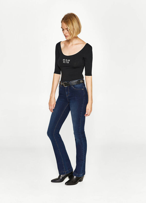 Bootcut stretch fit jeans | OVS