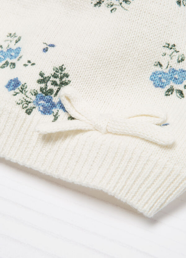 Knitted beanie cap with bow | OVS
