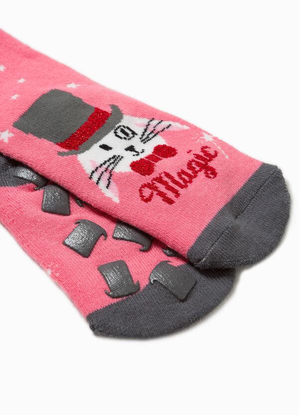 Embroidered glitter slipper socks | OVS