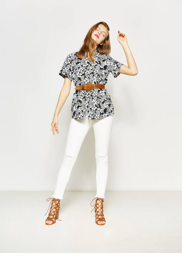 Shirt with all-over print | OVS