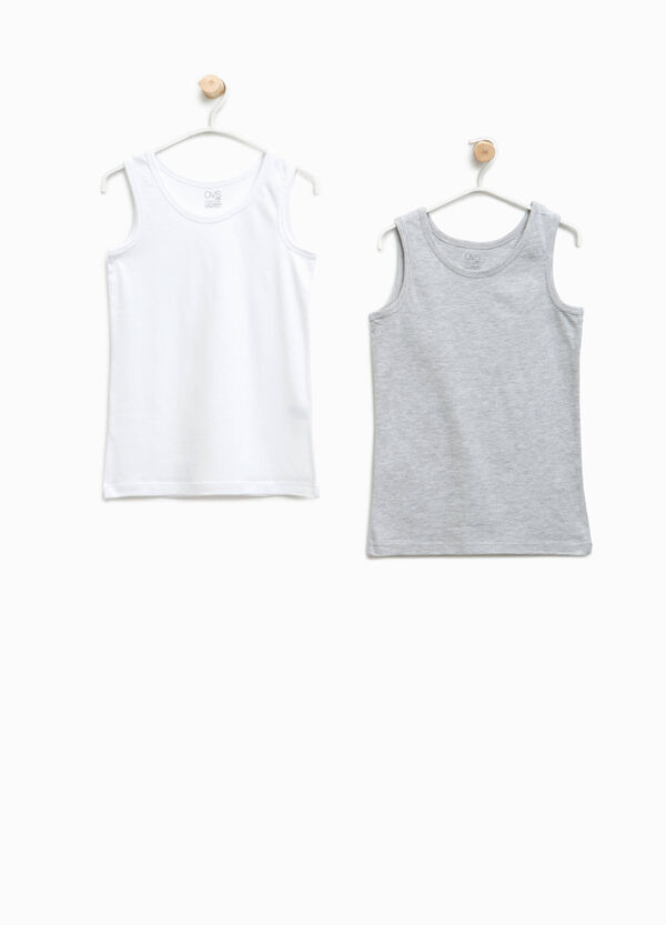 Set of two organic cotton under vests | OVS
