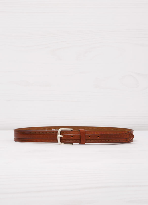 Cintura vera pelle passante singolo | OVS