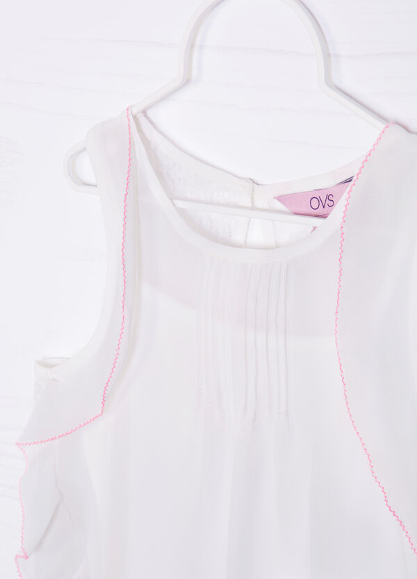 Vest top with ruffles and lace   OVS