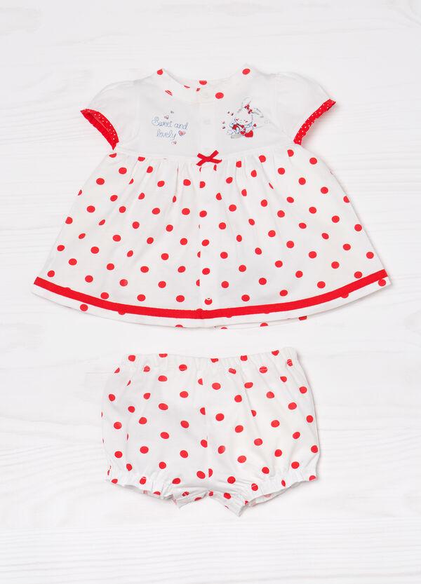 Outfit comprising polka dot dress and shorts   OVS