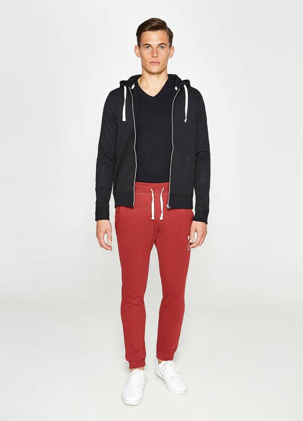Pantaloni tuta in puro cotone stampati | OVS