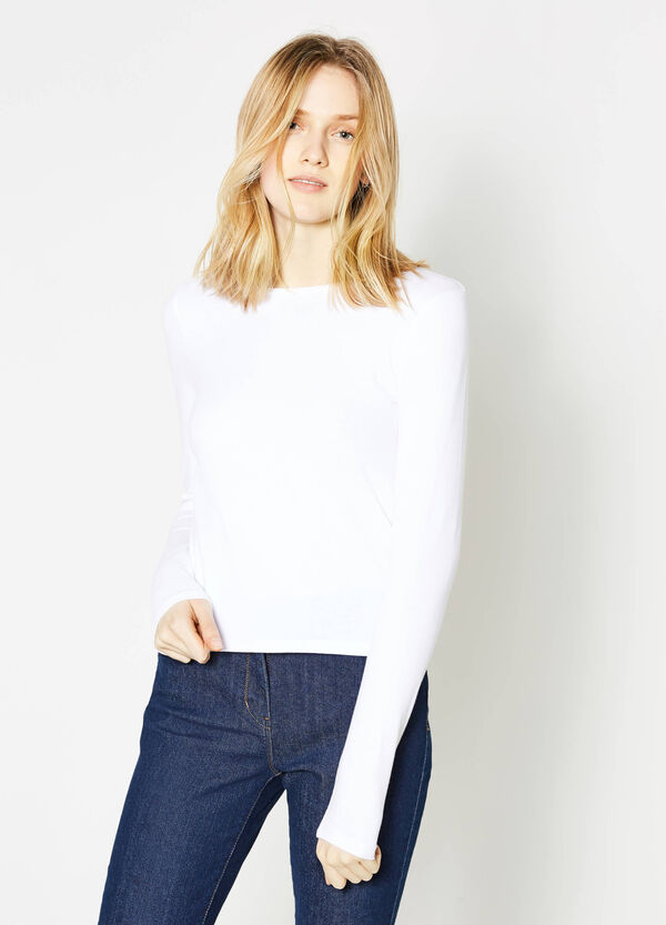 T-shirt crop in cotone stretch | OVS